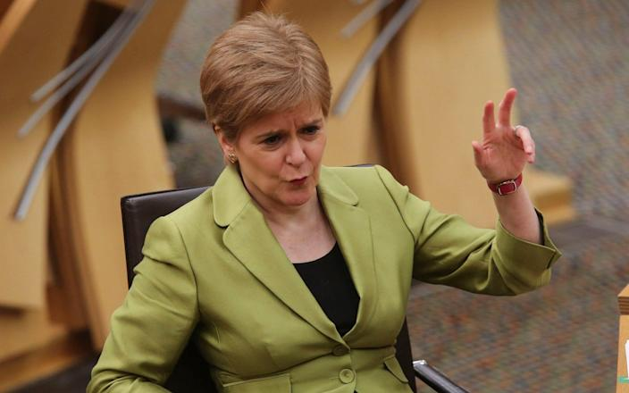 The First Minister was involved in angry exchanges at Holyrood - Pool/Getty Images Europe