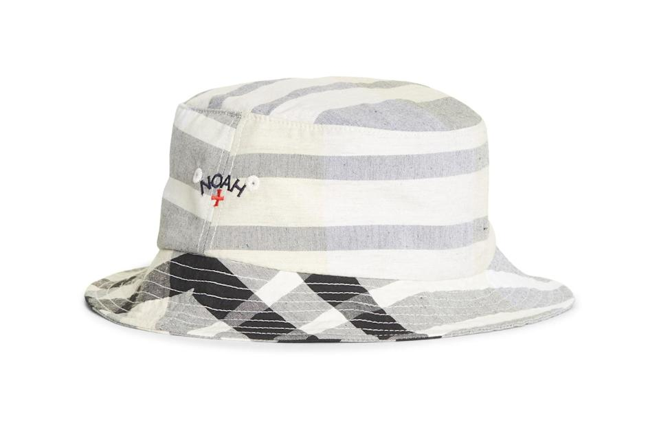 "$48, Nordstrom. <a href=""https://www.nordstrom.com/s/noah-madras-cotton-linen-bucket-hat/5593386?origin=keywordsearch-personalizedsort&breadcrumb=Home&color=none"" rel=""nofollow noopener"" target=""_blank"" data-ylk=""slk:Get it now!"" class=""link rapid-noclick-resp"">Get it now!</a>"