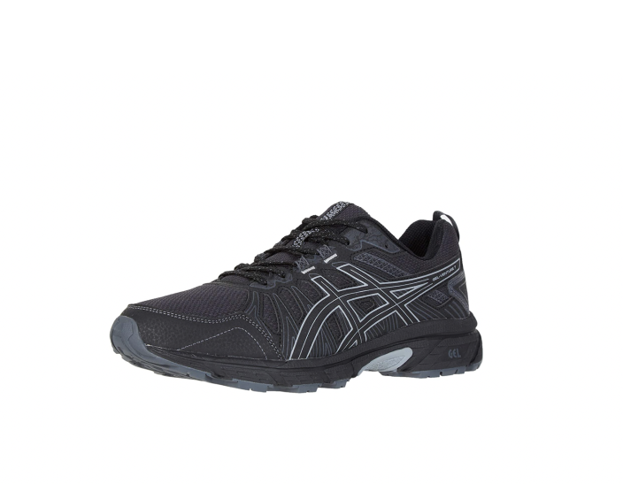 """<p><strong>Asics</strong></p><p>amazon.com</p><p><strong>$54.95</strong></p><p><a href=""""https://www.amazon.com/dp/B07JGVQ6K2?tag=syn-yahoo-20&ascsubtag=%5Bartid%7C2142.g.36364738%5Bsrc%7Cyahoo-us"""" rel=""""nofollow noopener"""" target=""""_blank"""" data-ylk=""""slk:Shop Now"""" class=""""link rapid-noclick-resp"""">Shop Now</a></p><p>Currently Amazon's No. 1 best selling men's trail running shoe, Asics Gel-Venture 7 was designed for runners of all levels who love the great outdoors. The shoe features an EVA midsole, which helps protect against impact.</p><p><em>[<a href=""""https://www.runnersworld.com/gear/a22115120/best-trail-running-shoes/"""" rel=""""nofollow noopener"""" target=""""_blank"""" data-ylk=""""slk:The Best Trail Shoes Right Now"""" class=""""link rapid-noclick-resp"""">The Best Trail Shoes Right Now</a>]</em></p>"""