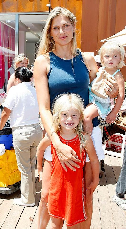 "Pro beach volleyball player, Gabrielle Reece, posed with her little surfer girls: Reece, 5, and Brody Jo, 1. Michael Buckner/<a href=""http://www.wireimage.com"" target=""new"">WireImage.com</a> - June 28, 2009"