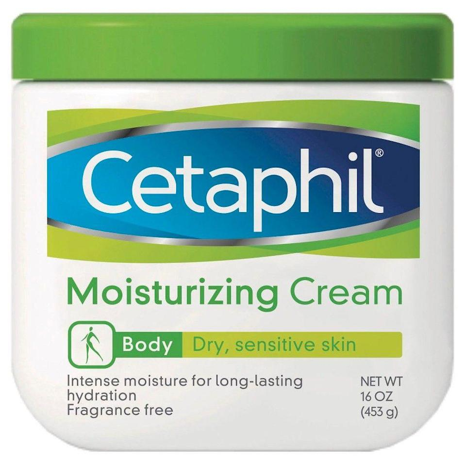"""<p><strong>Cetaphil</strong></p><p>walmart.com</p><p><strong>$10.93</strong></p><p><a href=""""https://go.redirectingat.com?id=74968X1596630&url=https%3A%2F%2Fwww.walmart.com%2Fip%2F505667335&sref=https%3A%2F%2Fwww.thepioneerwoman.com%2Fbeauty%2Fskin-makeup-nails%2Fg33557607%2Fbest-moisturizer-for-dry-skin%2F"""" rel=""""nofollow noopener"""" target=""""_blank"""" data-ylk=""""slk:Shop Now"""" class=""""link rapid-noclick-resp"""">Shop Now</a></p><p>If you have dry skin, there's a good chance it's sensitive too. To help keep it as protected and comfortable as possible, slather your skin in this fragrance-free body moisturizer. You won't regret it.</p>"""