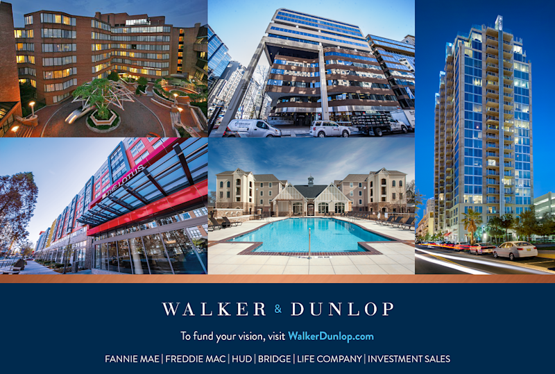 Five real estate properties, including a high-rise building and several midsized buildings.