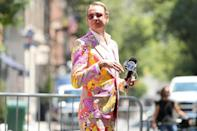 <p><em>RuPaul's Drag Race</em> judge Carson Kressley celebrates the 50th anniversary of the first Pride march in New York City on Saturday.</p>