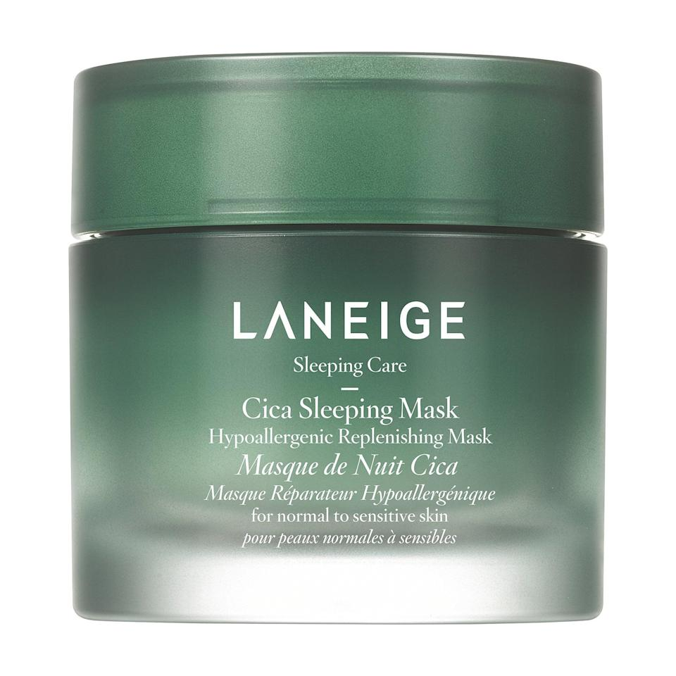 "<p>""I'm one of those people who likes to go to bed with skin that feels moist (sorry . . .) - like, over-the-top moisturized. The <a href=""https://www.popsugar.com/buy/Laneige-Hypoallergenic-Cica-Sleeping-Mask-537080?p_name=Laneige%20Hypoallergenic%20Cica%20Sleeping%20Mask&retailer=sephora.com&pid=537080&price=34&evar1=bella%3Aus&evar9=47519595&evar98=https%3A%2F%2Fwww.popsugar.com%2Ffashion%2Fphoto-gallery%2F47519595%2Fimage%2F47548767%2FLaneige-Hypoallergenic-Cica-Sleeping-Mask&list1=must%20haves%2Ceditors%20pick%2Cskin%20care&prop13=api&pdata=1"" class=""link rapid-noclick-resp"" rel=""nofollow noopener"" target=""_blank"" data-ylk=""slk:Laneige Hypoallergenic Cica Sleeping Mask"">Laneige Hypoallergenic Cica Sleeping Mask</a> ($34) fulfills all my hydrated skin dreams, well into the next day. My skin just drinks it up overnight and leaves me feeling renewed, glowy, and truly plump when I wake up, especially if I've gotten a little too much Florida sun in my parents' backyard the day before (sorry again to my dermatologist). It's become one of those products I'll never be able to live without."" - Aviel Kanter, senior native living editor</p>"
