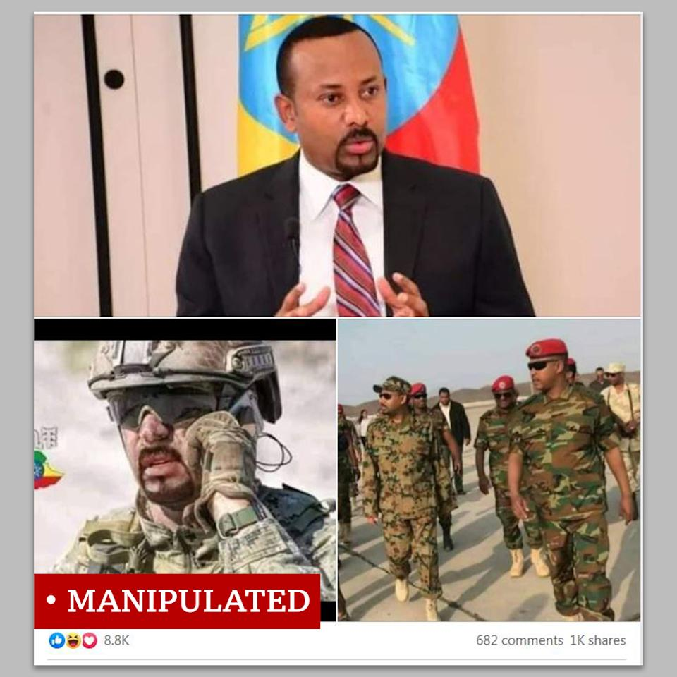 "Photo montage of Ethiopia's prime minister labelled as ""manipulated"""