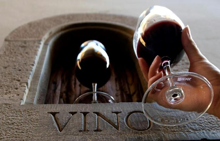 """Small """"wine windows"""" were created in 16th-century Florence for landowners and wealthy families to pass alcohol that they had produced directly to customers"""