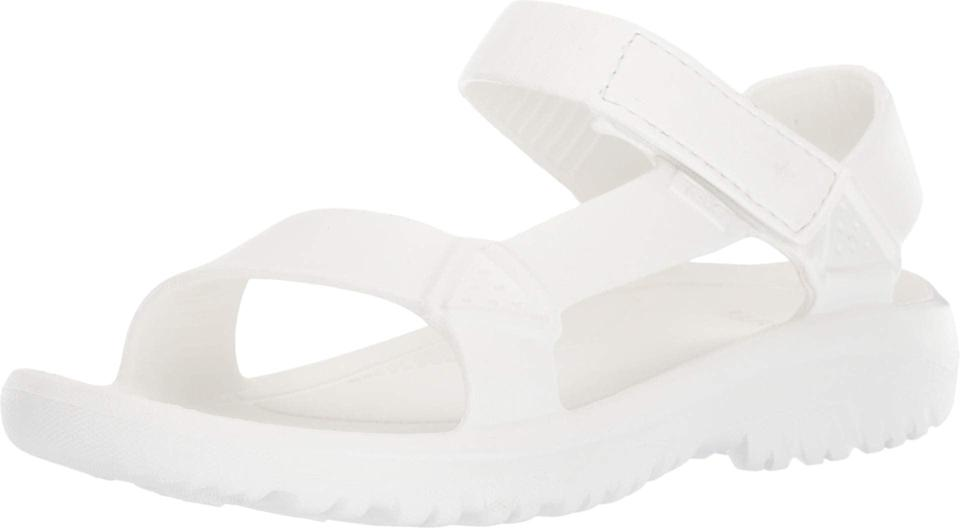 """<strong><h2>29% Off Teva Hurricane Drift Sandals</h2></strong><br>""""Howdy! As the editor on R29's Shopping team, my eyes have gazed upon every single Prime Day promo and <a href=""""https://www.refinery29.com/en-us/2020/10/10087808/prime-day-alternatives-sales-other-than-amazon"""" rel=""""nofollow noopener"""" target=""""_blank"""" data-ylk=""""slk:counter-sale beyond the 'zon"""" class=""""link rapid-noclick-resp"""">counter-sale beyond the 'zon</a> that we've covered — which means I've got <a href=""""https://www.refinery29.com/en-us/2020/10/10087685/best-amazon-prime-day-deals-2020"""" rel=""""nofollow noopener"""" target=""""_blank"""" data-ylk=""""slk:a fine-tuned, cross-category deal list that's really worth the coin"""" class=""""link rapid-noclick-resp"""">a fine-tuned, cross-category deal list that's really worth the coin</a>. Aside from my Amazon heavy-hitter (more on that ahead) I also was seriously compelled to <a href=""""https://www.refinery29.com/en-us/2020/10/10083680/walmart-big-save-event-deals-prime-day-2020"""" rel=""""nofollow noopener"""" target=""""_blank"""" data-ylk=""""slk:cart up a bargain from Walmart's Big Save event"""" class=""""link rapid-noclick-resp"""">cart up a bargain from Walmart's Big Save event</a> (also more on that ahead) — but, my biggest PD-pro tip? Don't get distracted by the Prime-Day-exclusive deals, because there are lots of other Amazon markdowns just waiting to be scored that don't have that little blue stamp — starting with this here 29%-off pair of white EVA sandals from Teva that I carted like a hot cake and will wear with chunky wool socks until my toes can see the sun again. (<em>Psst</em>, go ahead and <a href=""""https://amzn.to/2GOWWGB"""" rel=""""nofollow noopener"""" target=""""_blank"""" data-ylk=""""slk:search Dyson"""" class=""""link rapid-noclick-resp"""">search Dyson</a> for secret slashed prices that aren't folded into all that Prime Day hoopla.)"""" <br><br>– <em>Elizabeth Buxton, Market Editor</em><br><br><strong>Teva</strong> Hurricane Drift, $, available at <a href=""""https://amzn.to/2IvYghZ"""" rel=""""nofollow noopener"""" tar"""