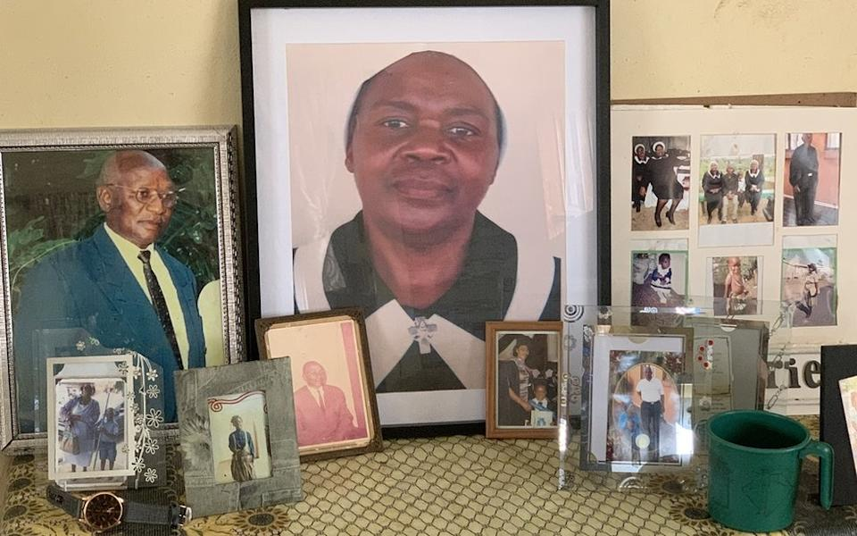 Picture of Fikile Ntshangase on a mantlepiece