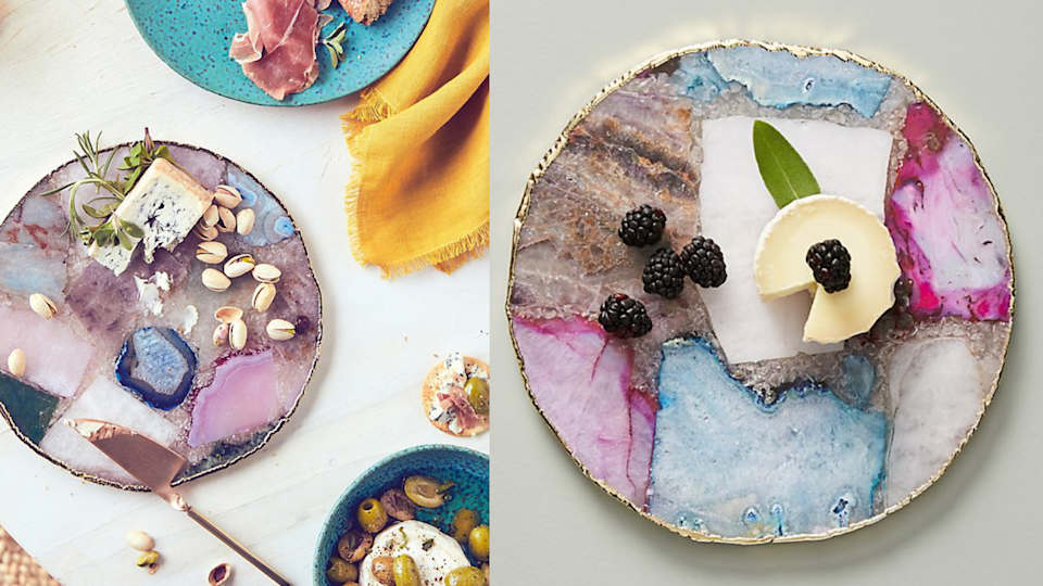 Best gifts under $100: Anthropologie Composite Agate Cheese Board.