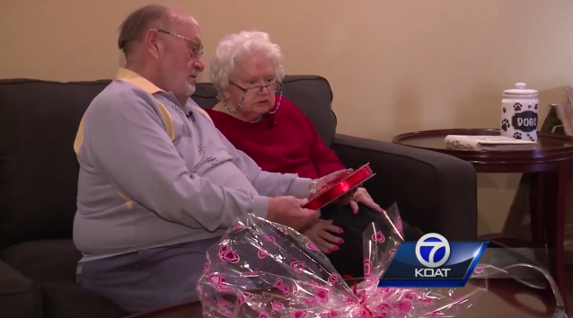 Ron and Donna Kramer celebrate their 39th Valentine's Day together, with the same box of chocolates. (Photo: KOAT 7 News)