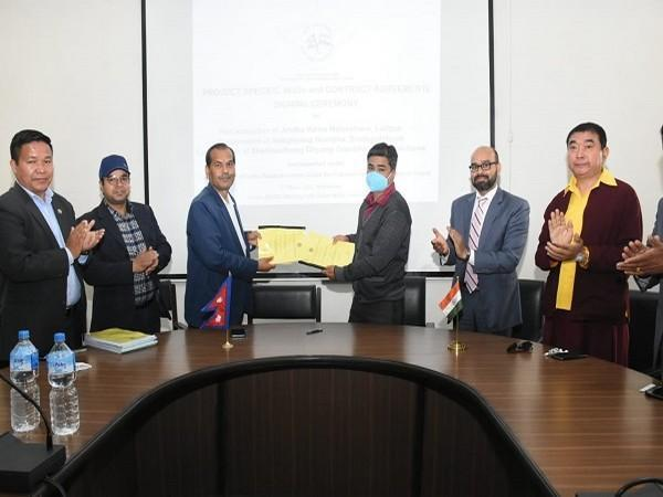 The Memorandum of Understanding (MoU) and Contract Agreements for restoration and reconstruction were signed on Wednesday (Photo Credit: Twitter/ IndiaInNepal)