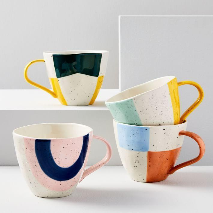 """<p><strong>West Elm</strong></p><p>westelm.com</p><p><a href=""""https://go.redirectingat.com?id=74968X1596630&url=https%3A%2F%2Fwww.westelm.com%2Fproducts%2Fpastel-speckle-mugs-e2368&sref=https%3A%2F%2Fwww.bestproducts.com%2Fhome%2Fg33012977%2Fwest-elm-summer-home-decor-sale%2F"""" rel=""""nofollow noopener"""" target=""""_blank"""" data-ylk=""""slk:Shop Now"""" class=""""link rapid-noclick-resp"""">Shop Now</a></p><p><del>$10</del><strong><br>$3.99</strong></p><p>While we can't back this up with science <em>just</em> yet, we have a sneaking suspicion there's a correlation between drinking coffee out of a fun mug and having a good day. </p>"""