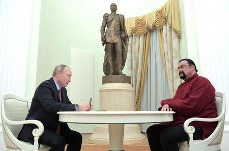 Russia's President Putin meets U.S. actor Seagal in Moscow
