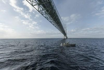 Canadian House of Commons Special Committee affirms the economic importance of the Line 5 pipeline to both Canada and the U.S. Line 5 crosses the Straits of Mackinac pictured here. (CNW Group/Enbridge Inc.)