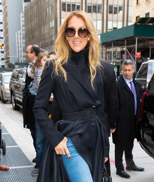 Céline Dion departs her hotel on February 29, 2020 in New York City. (Photo by Gotham/GC Images).