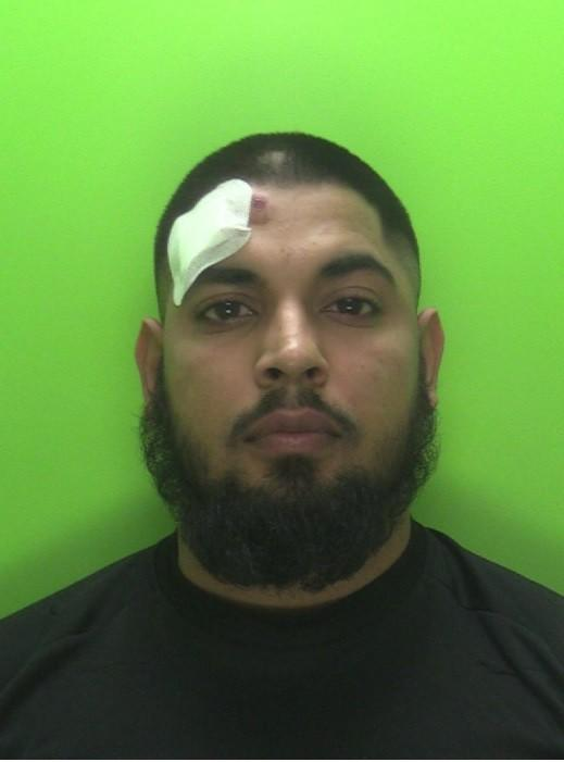 Shoaib Moeen, 25, was jailed for 13 months at Nottingham Crown Court on Wednesday.