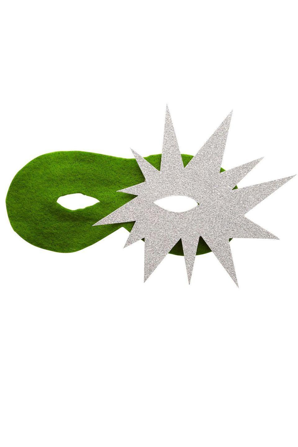 """<p>Put the super in superhero with this mask. Use hot glue to cover the mask with green felt. Then cut a starlike shape with an eyehole out of silver glitter paper and glue it to the mask. </p><p>__________________________________________________________</p><p>Want more crafts? You're in luck! <a href=""""https://subscribe.hearstmags.com/subscribe/womansday/253396?source=wdy_edit_article"""" rel=""""nofollow noopener"""" target=""""_blank"""" data-ylk=""""slk:Subscribe to Woman's Day"""" class=""""link rapid-noclick-resp"""">Subscribe to Woman's Day</a> today and get <strong>73% off your first 12 issues</strong>. And while you're at it, <a href=""""https://subscribe.hearstmags.com/circulation/shared/email/newsletters/signup/wdy-su01.html"""" rel=""""nofollow noopener"""" target=""""_blank"""" data-ylk=""""slk:sign up for our FREE newsletter"""" class=""""link rapid-noclick-resp"""">sign up for our FREE newsletter</a> for even more of the Woman's Day content you want.</p>"""