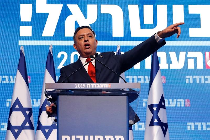 Avi Gabbay, chairman of Israel's Labour Party, delivers a speech at a party conference in Tel Aviv on January 10, 2019 (AFP Photo/JACK GUEZ)