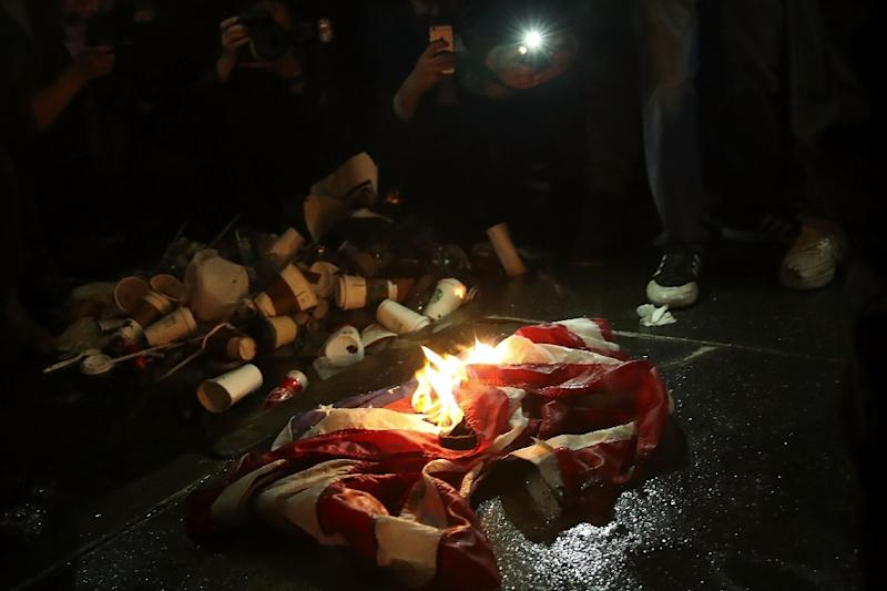 Trump takes to Twitter to declare hard stance on flag burning