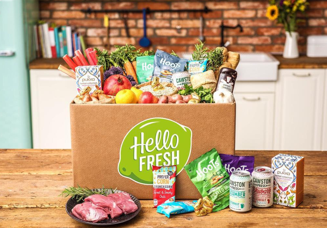 <p>Hello Fresh apparently started when head chef Patrick and his 'merry band of Hello Freshers' spent an afternoon packing shopping bags in Patrick's living room and delivering them by hand to their families and friends. Since then it's grown and you can sign up for a whole range of recipes, including meals suitable for vegetarians and children. [Photo: Instagram/hellofreshuk] </p>
