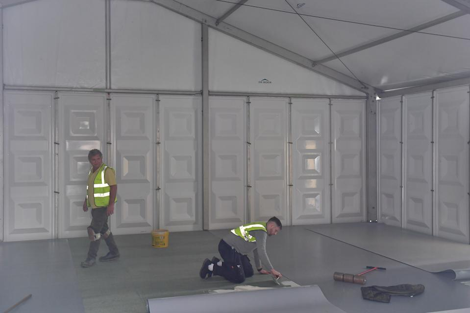 The temporary structure erected on Wednesday has an extra capacity of 112. (Picture: PA)