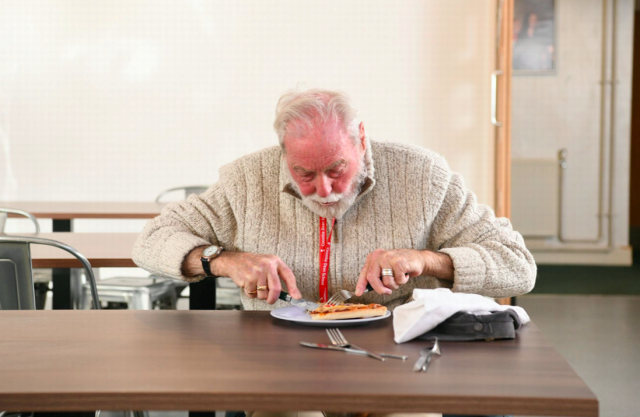 Cyril Aggett has been invited for lunch with schoolchildren every day after losing his wife (SWNS)
