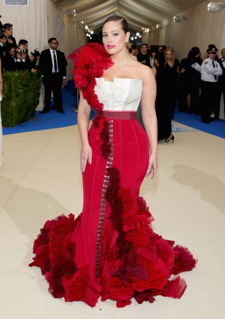 Ashley Graham wearing custom H&M at the Met Gala 17