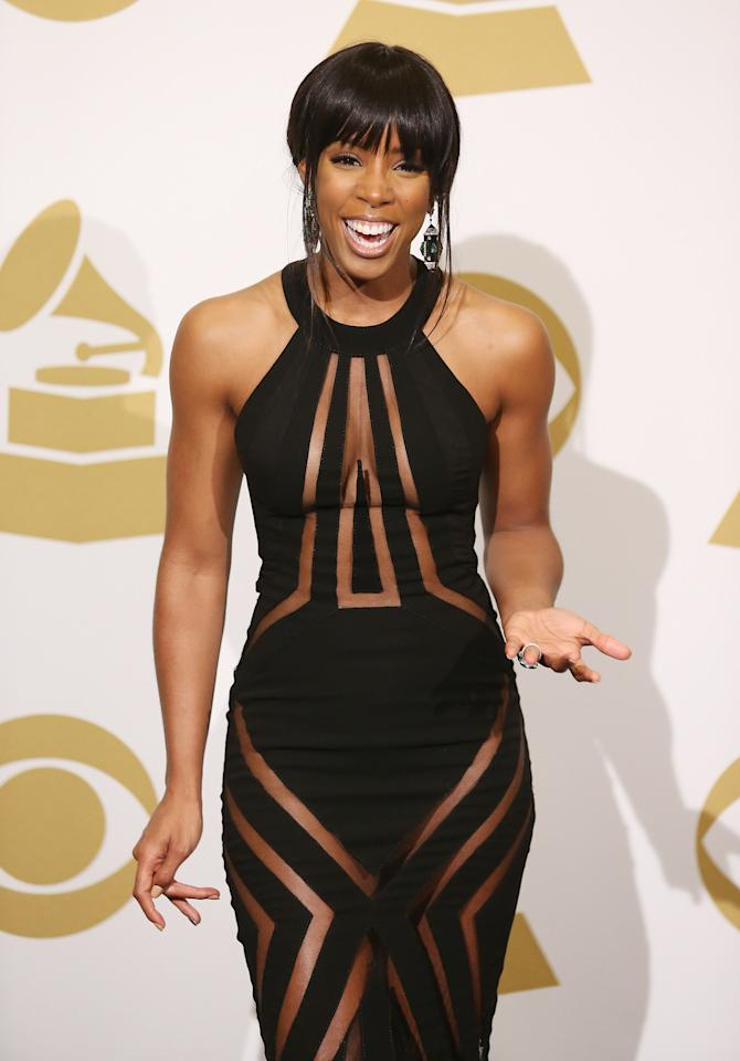 Kelly Rowland may be the top contender in the dress code violation this year. Come on, it's almost see-through all over.