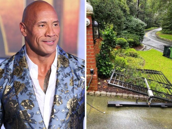 Dwayne 'The Rock' Johnson rips down his own security gate with bare hands