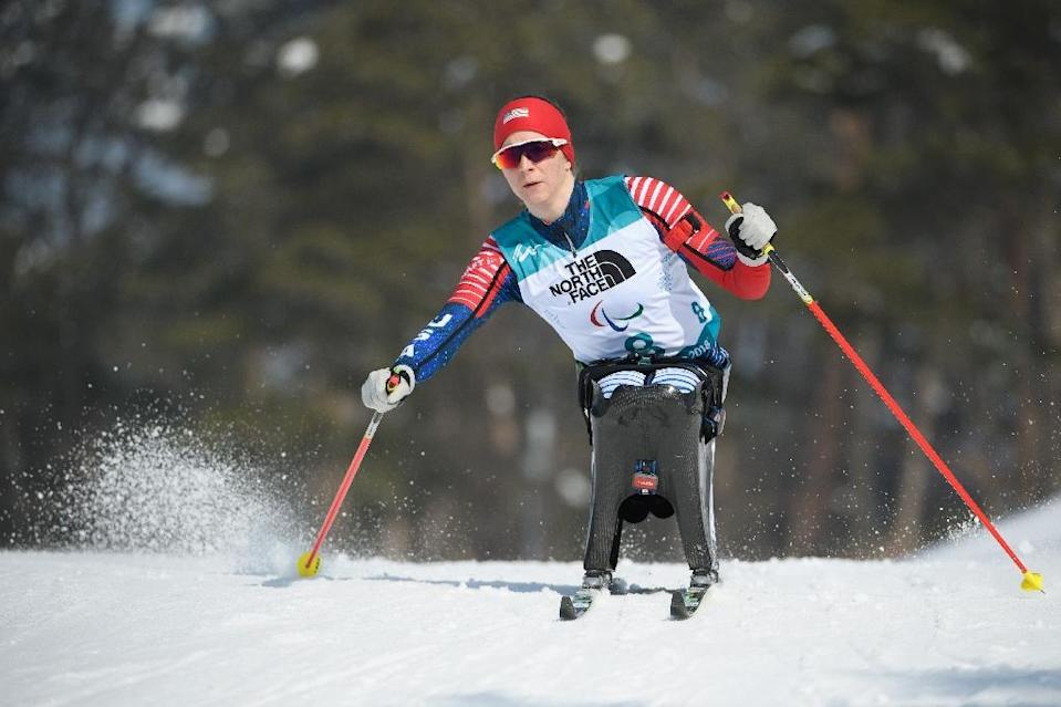"""Kendall Gretsch, who won gold in the women's sit ski, said her victory was """"pretty unexpected"""" (AFP Photo/Thomas LOVELOCK)"""