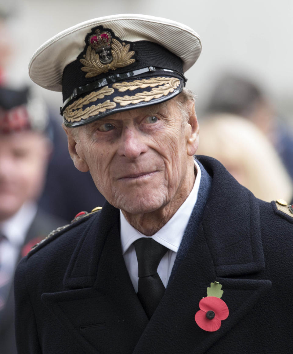 Prince Philip, the Duke of Edinburgh, visits the Field of Remembrance in London, England.