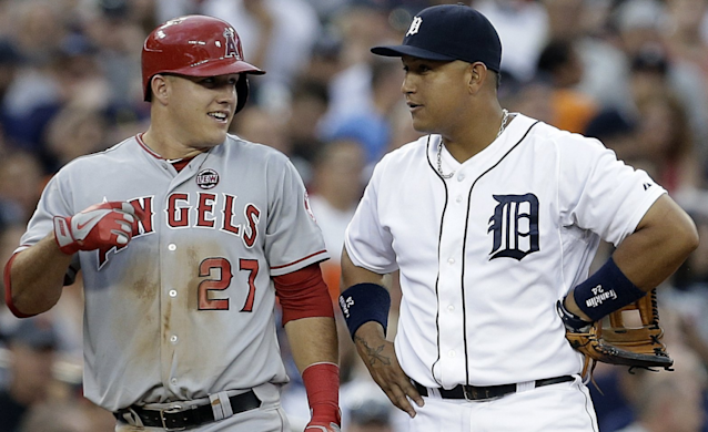 Mike Trout and Miguel Cabrera have a star's laugh