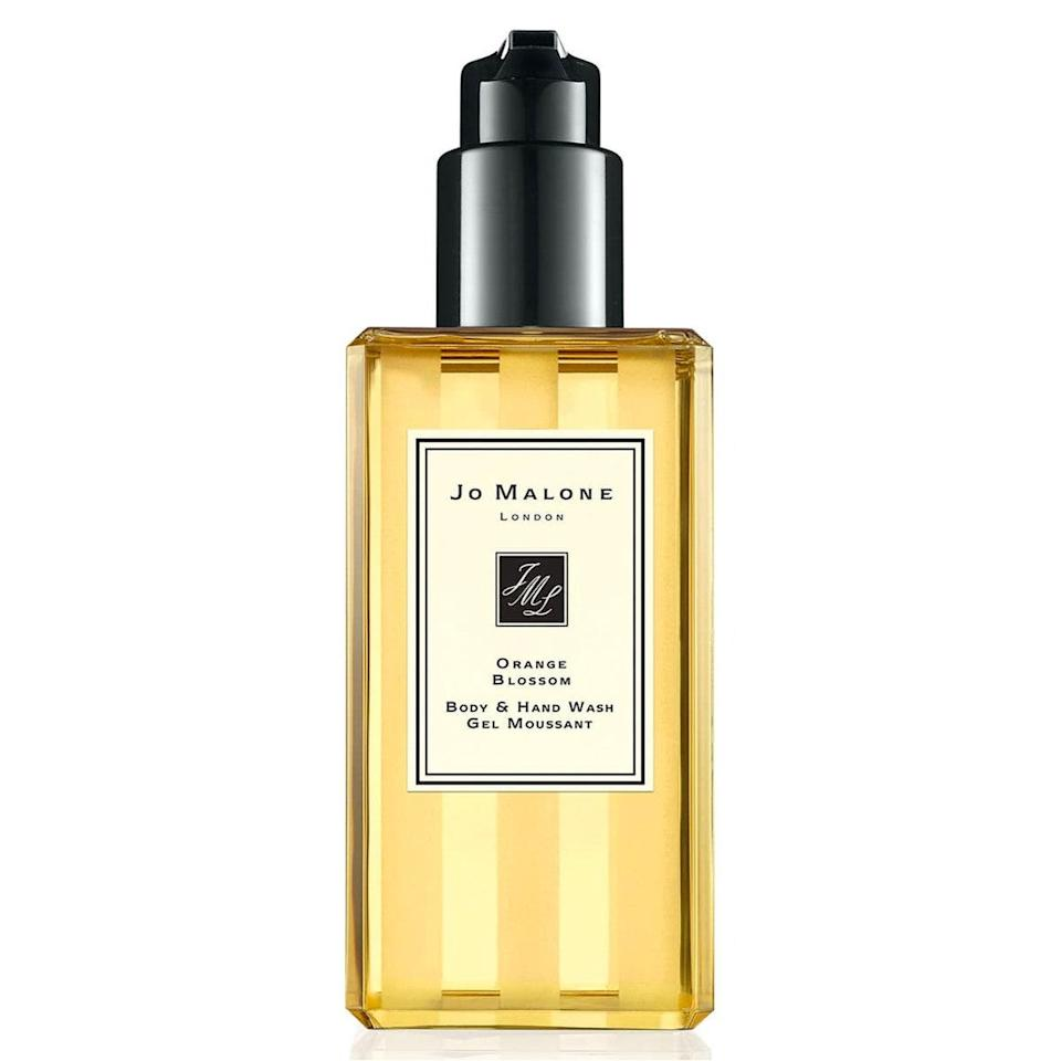 "You probably know Jo Malone for its perfumes, but its collection of body products is equally impressive and aromatic. The brand's Orange Blossom Body & Hand Wash would make a lovely <a href=""https://www.glamour.com/gallery/best-engagement-gifts?mbid=synd_yahoo_rss"" rel=""nofollow noopener"" target=""_blank"" data-ylk=""slk:engagement"" class=""link rapid-noclick-resp"">engagement</a> or <a href=""https://www.glamour.com/gallery/quarantine-birthday-gift-ideas?mbid=synd_yahoo_rss"" rel=""nofollow noopener"" target=""_blank"" data-ylk=""slk:birthday present"" class=""link rapid-noclick-resp"">birthday present</a>. $42, Nordstrom. <a href=""https://shop.nordstrom.com/s/jo-malone-london-orange-blossom-body-hand-wash/3010804?"" rel=""nofollow noopener"" target=""_blank"" data-ylk=""slk:Get it now!"" class=""link rapid-noclick-resp"">Get it now!</a>"