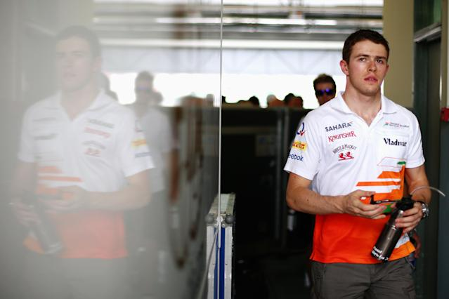 KUALA LUMPUR, MALAYSIA - MARCH 24: Paul di Resta of Great Britain and Force India attends the drivers parade before the Malaysian Formula One Grand Prix at the Sepang Circuit on March 24, 2013 in Kuala Lumpur, Malaysia. (Photo by Paul Gilham/Getty Images)