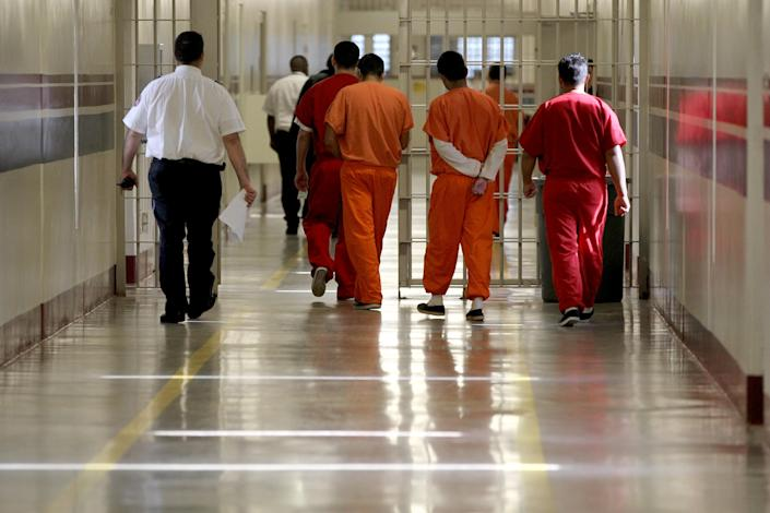 Detainees at the Stewart Detention Center in Lumpkin, Ga. (Photo: Jonathan Wiggs/The Boston Globe via Getty Images)