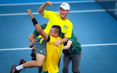 <span>Hewitt's relationship with Kyrgios also appears to have soured</span> <span>Credit: AFP </span>