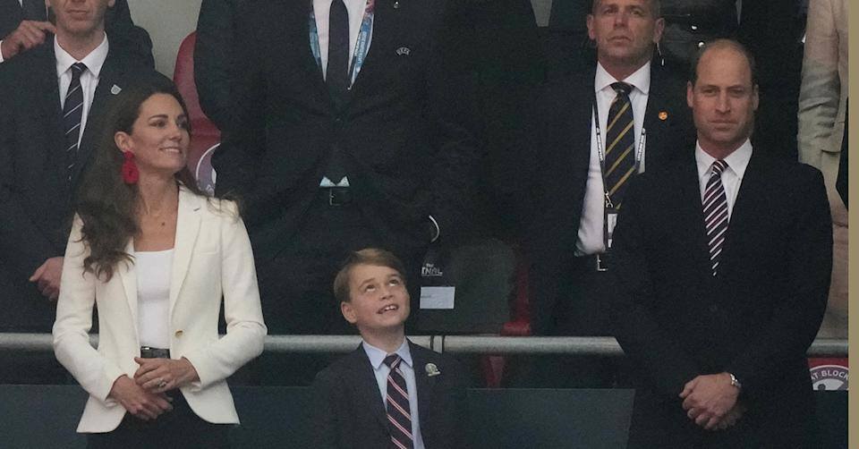 Kate Middleton at Wembley with Prince William and Prince George