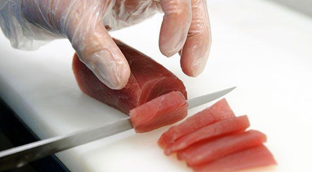 Generic image of sashimi being prepared. Source: AAP Image/Joel Carrett