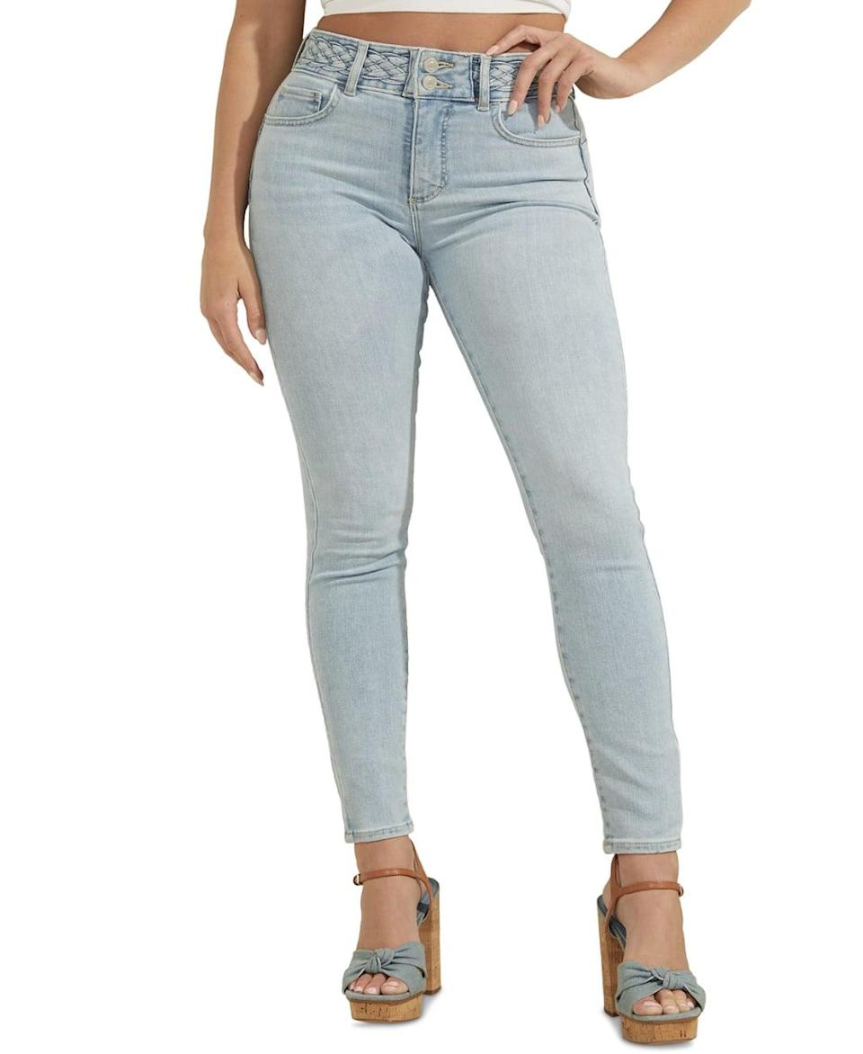 <p><span>Guess Braided-Waist Skinny Jeans</span> ($65, originally $108 (with code FOURTH))</p>
