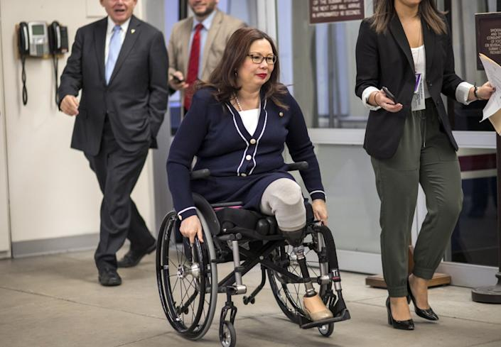 Illinois Sen. Tammy Duckworth is an Army combat veteran who could be up for the job of Veterans Affairs secretary.