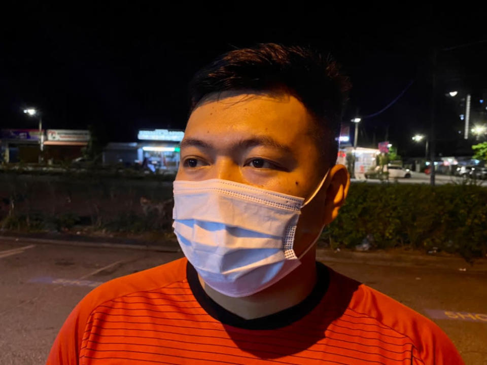 Sarawakian Rekan Ligong, 32, welcomes the government's lifting of travel restrictions. — Picture by Ben Tan