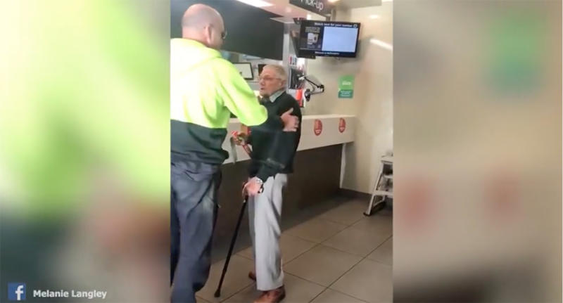 David Love paid for the elderly stranger's Maccas and gave him $20.