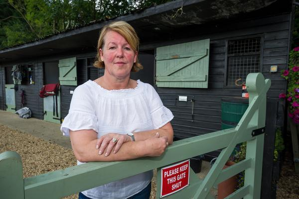 Her actions have attracted anger from the local village (Picture: SWNS)