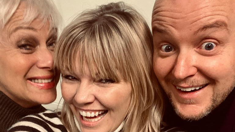 Denise Welch and Lincoln Townley appear on the latest episode of White Wine Question Time, hosted by Kate Thornton