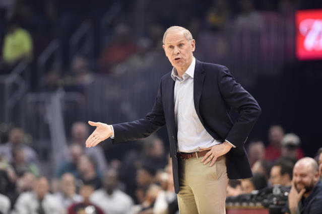 Charles Barkley called out Cavaliers players on Thursday night for trying to get former coach John Beilein fired. (Jason Miller/Getty Images)