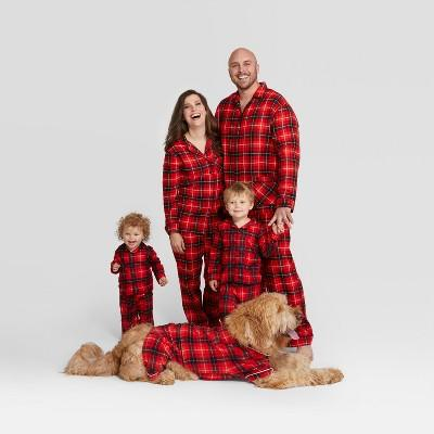 Holiday Red Plaid Notch Collar Family Pajamas Collection (Photo: Target)