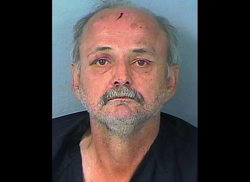"""Gregory Hanscom might have taken """"sagging"""" to a whole new level. Police in Spring Hill, Fla., say they found the 55-year-old suspect lying in his front yard wearing nothing except his pants around his ankles. He reportedly told authorities he had consumed four beers before dropping trou."""