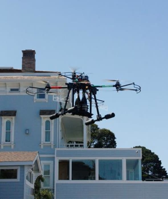 Hotel delivers Champagne to guests by drones