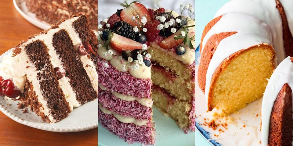 """<p>Cake at <a href=""""https://www.delish.com/uk/food-news/a30604626/easter-food/"""" rel=""""nofollow noopener"""" target=""""_blank"""" data-ylk=""""slk:Easter"""" class=""""link rapid-noclick-resp"""">Easter</a> is a must-have. And if you have a selection? Well, even better. With plenty of time on our hands to <a href=""""https://www.delish.com/uk/easy-baking-recipes/"""" rel=""""nofollow noopener"""" target=""""_blank"""" data-ylk=""""slk:bake"""" class=""""link rapid-noclick-resp"""">bake</a> up something pretty damn delicious, it's good to take a look at your options. What kind of cake do you want to make? Whether it's a <a href=""""https://www.delish.com/uk/cooking/recipes/a28784092/carrot-cake-cupcakes-recipe/"""" rel=""""nofollow noopener"""" target=""""_blank"""" data-ylk=""""slk:Carrot Cake"""" class=""""link rapid-noclick-resp"""">Carrot Cake</a>, <a href=""""https://www.delish.com/uk/cooking/recipes/a28867437/lemon-drizzle-cake/"""" rel=""""nofollow noopener"""" target=""""_blank"""" data-ylk=""""slk:Lemon Drizzle"""" class=""""link rapid-noclick-resp"""">Lemon Drizzle</a> or a <a href=""""https://www.delish.com/uk/cooking/recipes/a31974759/cadbury-egg-cheesecake-recipe/"""" rel=""""nofollow noopener"""" target=""""_blank"""" data-ylk=""""slk:Cadbury's Creme Egg Cheesecake"""" class=""""link rapid-noclick-resp"""">Cadbury's Creme Egg Cheesecake</a> (yep, we do have a recipe for this), you'll easily find one you love. </p>"""