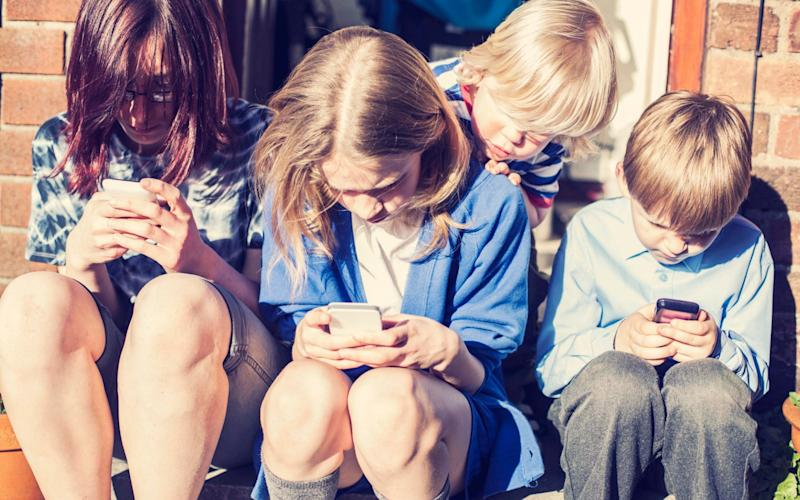 The study examined screen time in children from the age of three onwards - Getty Images Contributor